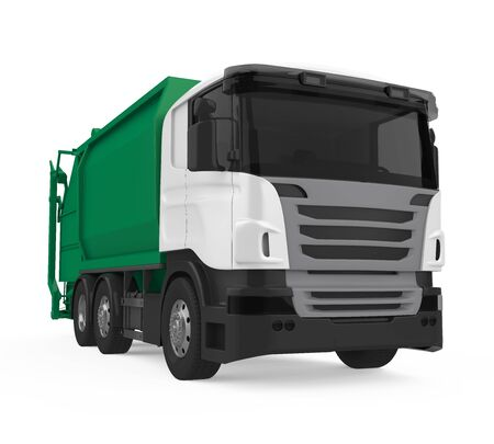 Garbage Truck Isolated Stock fotó