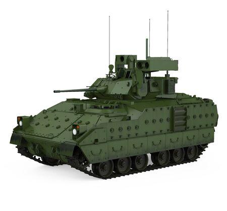 Military Tank Isolated Standard-Bild