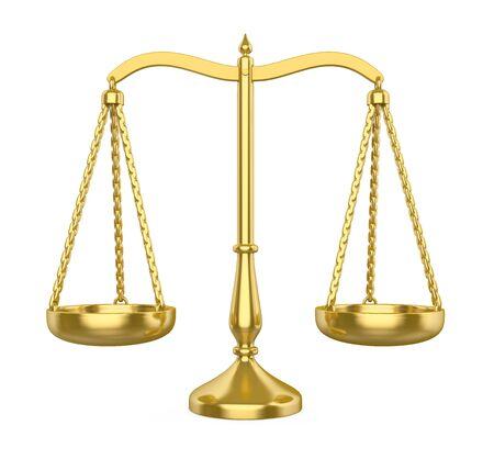Balance Scale Isolated Stock Photo