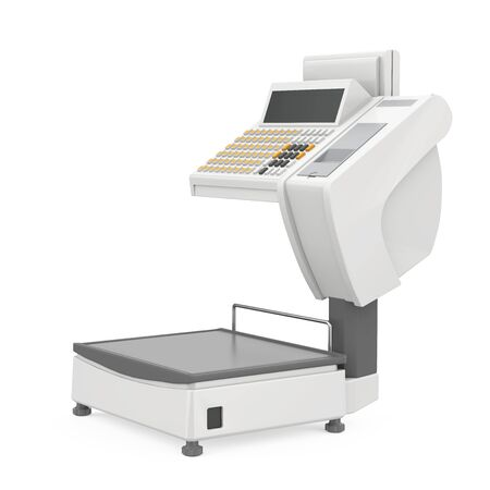 Retail Weighing Scales Isolated