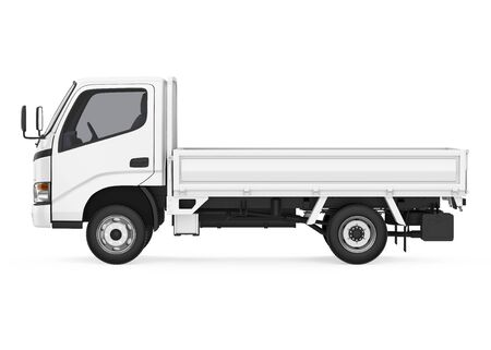 Flatbed Truck Isolated