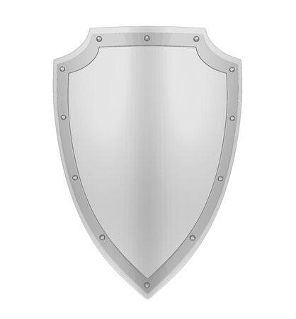 Medieval Shield Isolated Archivio Fotografico