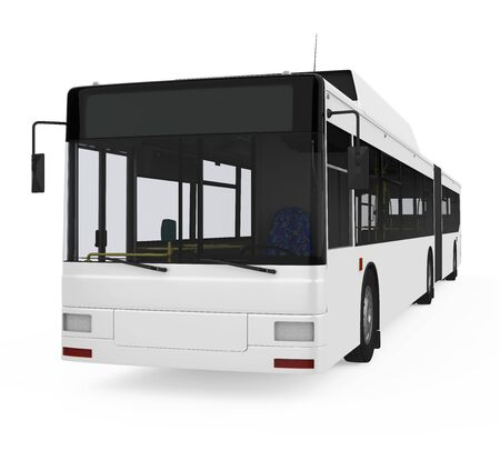 Articulated City Bus Isolated Imagens
