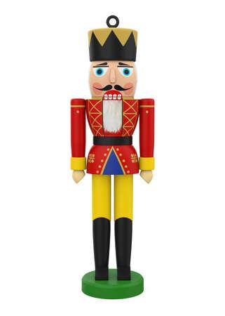 Christmas Nutcracker Toy Soilder Isolated Reklamní fotografie