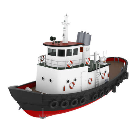 Tugboat Isolated Reklamní fotografie