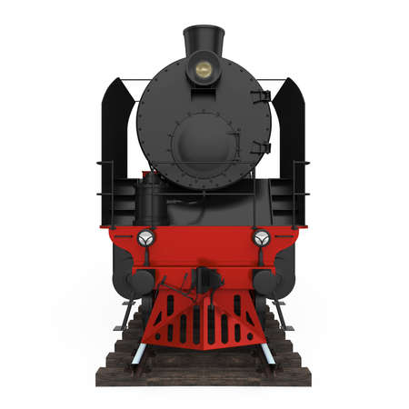 Old Steam Locomotive Isolated
