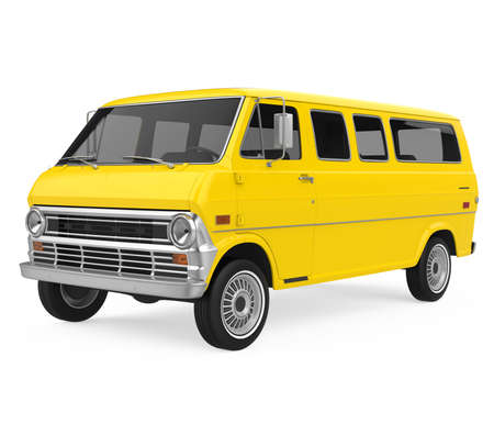 Old Van Isolated