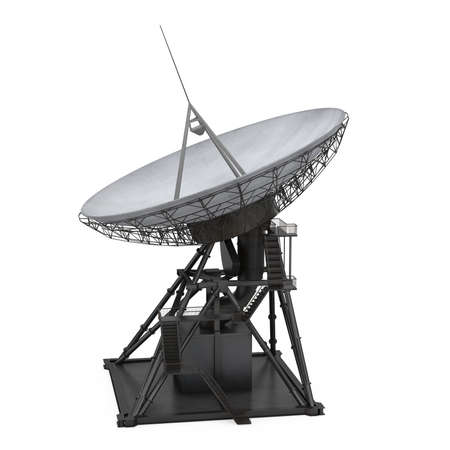 Satellite Dish Antenna Isolated Banque d'images