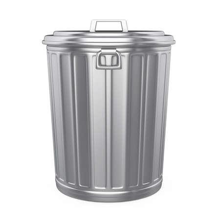 Garbage Trash Bin Isolated