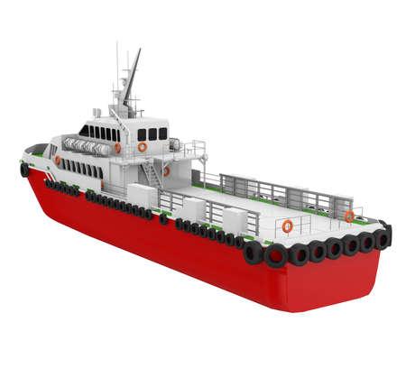 Crew Boat Isolated
