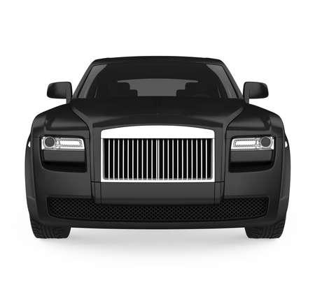 Black Sedan Car Isolated
