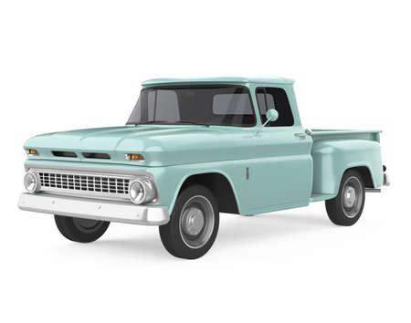 Vintage Pickup Truck Isolated Stockfoto