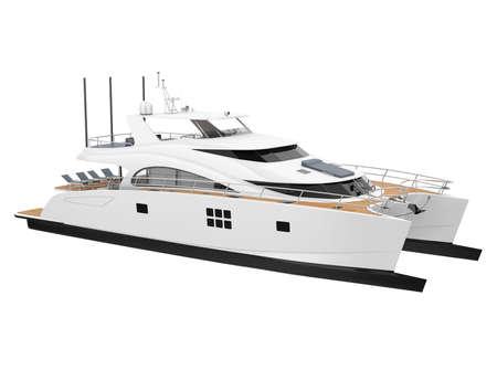 Catamaran Boat Isolated