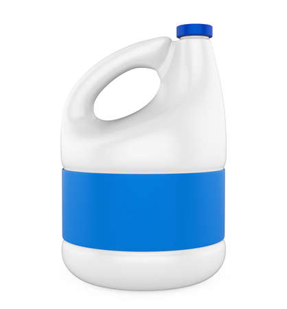White Blank Plastic Bottle Isolated