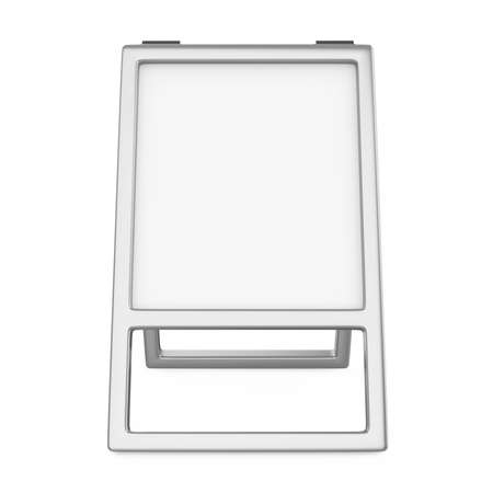 Sidewalk White Board Isolated Stockfoto
