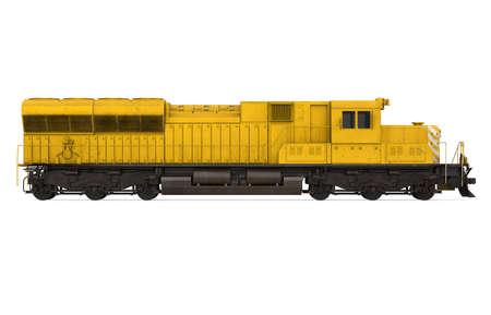 Diesel Locomotive Train Isolated