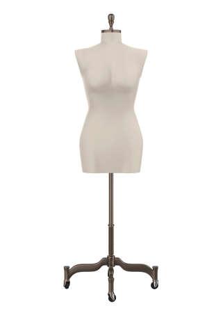 Female Mannequin Torso Isolated