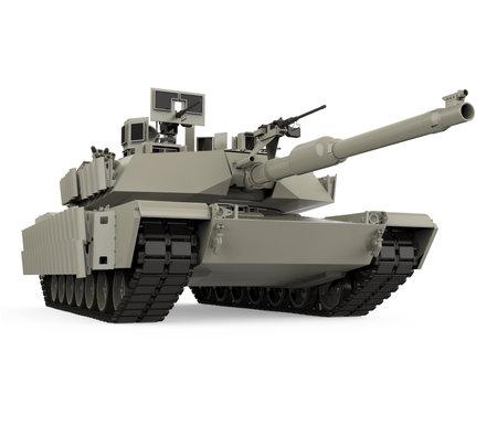 Military Tank Isolated Stock Photo