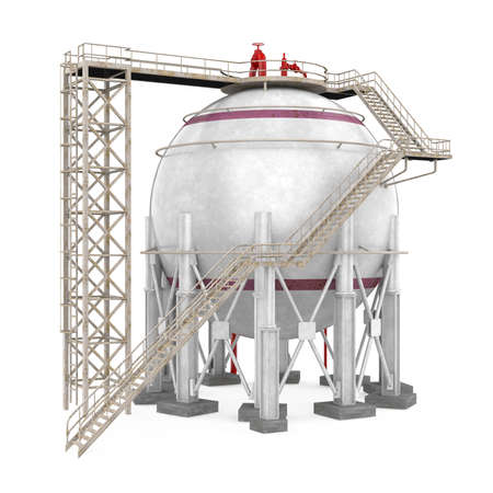 Spherical Storage Tank Isolated