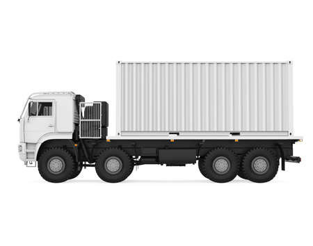 Delivery Truck Isolated Stock Photo