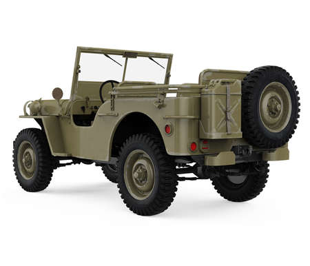 Military Vehicle Car Isolated Standard-Bild