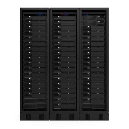 Computer Network Server Isolated Foto de archivo - 168180532