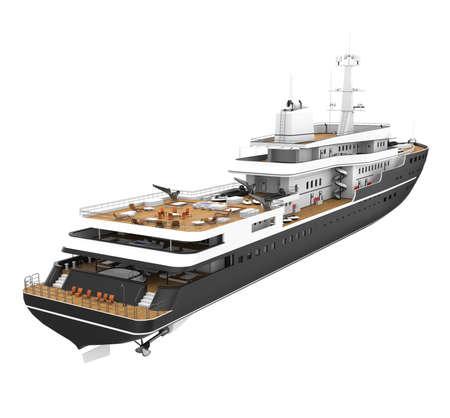 White Pleasure Yacht Isolated