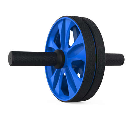 Fitness Gym Roller Wheel Isolated