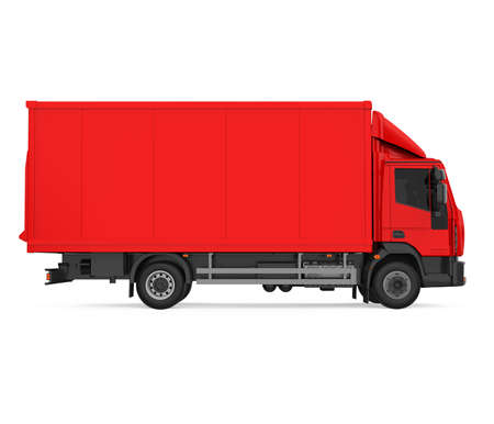 Red Truck Isolated