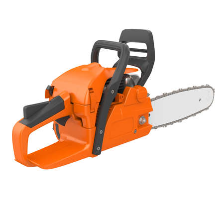 Chainsaw Isolated Stock Photo
