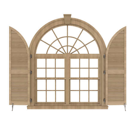 Classic Window Frame Isolated
