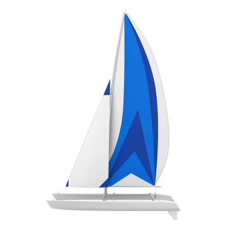 Sport Catamaran Boat Isolated Stock Photo