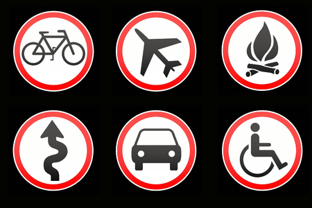 Warning traffic signs Stock Photo - 23338205
