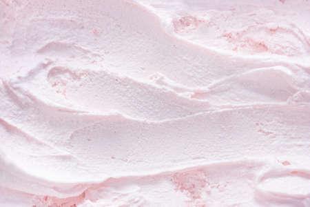Fruity ice cream background. Macro Stockfoto