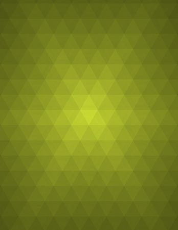 rows: Green abstract geometric background formed with triangles in rows Stock Photo