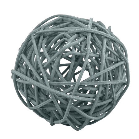 Grey wicker ball isolated on a white background