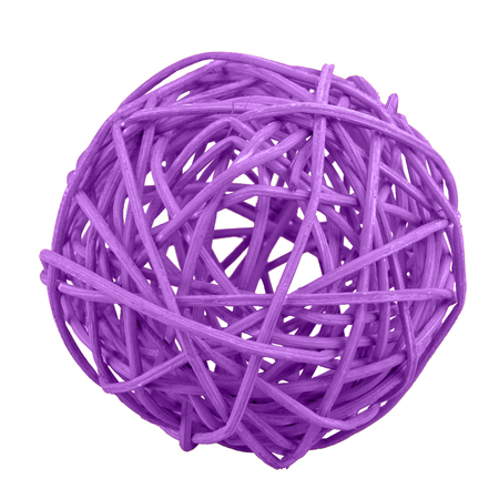 Violet wicker ball isolated on a white background