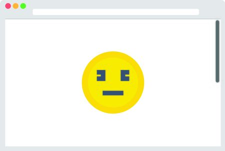 temporarily: File browser with yellow emoticon. Vector illustration Illustration