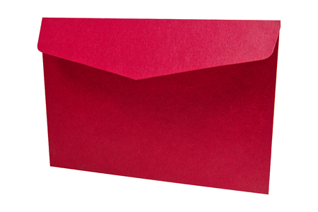 Red envelope isolated on a white background Stock Photo