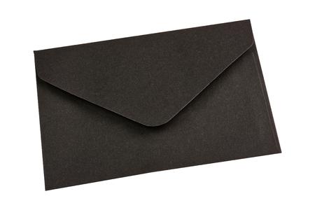 Black envelope isolated on a white background