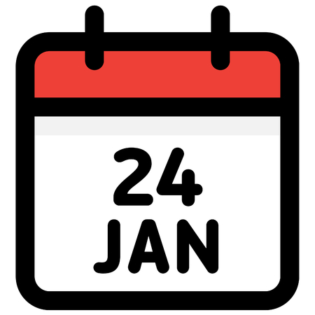 24. January - Calendar Icon - Vector Illustration - Vector Standard-Bild - 126290598