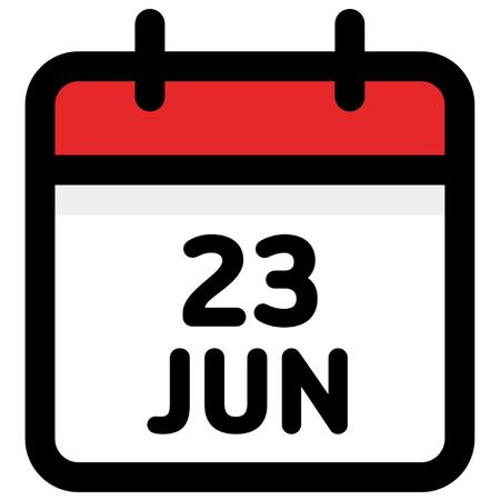 23. June - Calendar Icon - Vector Illustration - Vector