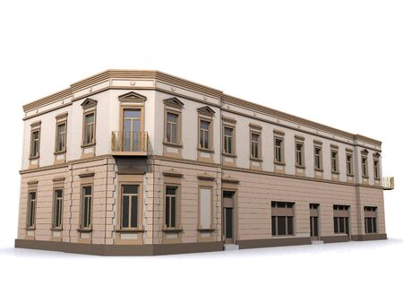3d Building Corner Eclectic House Stock Photo - 7776049