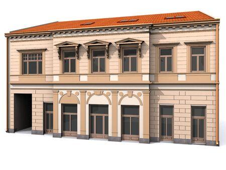 Building Eclectic Renaissance House Stock Photo - 7908925