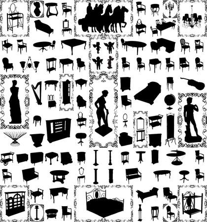 muebles antiguos: Antiguos muebles y objetos cien