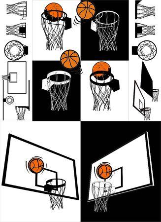 basketball net: Basketball And Backboard
