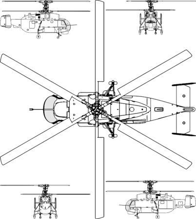 fighter pilot: Viso E Base di elicottero Vettoriali