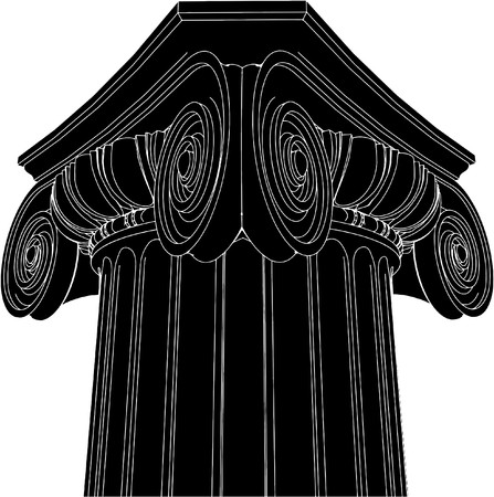 Greek Ionic Column Vector