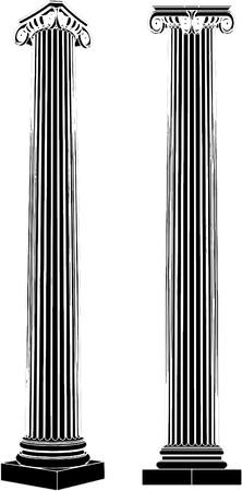 derecho romano: Columnas j�nicas griego  Vectores