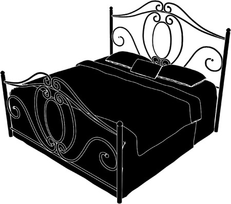 Antique Bed High Vector